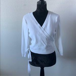 Ann Taylor Loft pure white cardigan